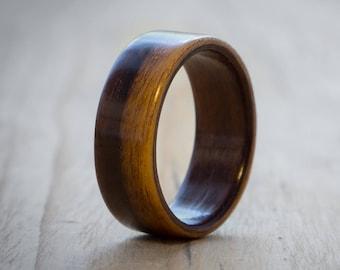 Rosewood bentwood ring, Wood wedding ring, Mens wood ring, Womens wood ring, Wood ring, Bentwood ring, Wooden ring, Handmade wood ring