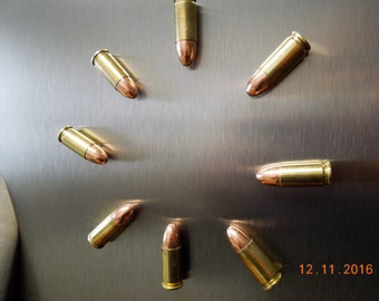 BAM...BOOM...9 mm bullet magnets!!! / bullet magnets / fridge magnets/ bullet/ bullets/ 2nd Amendment