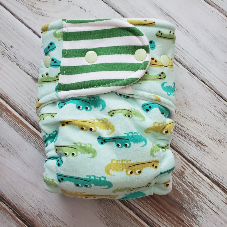 Hybrid Fitted Cloth Diaper Organic Zorb Bamboo Squishy image 0
