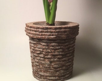 The Bark - Natural Granite Stone Flowerpot, Indoor and Outdoor, Rock Flower, Rustic, Heavy Gift, Gardening Item, Stabile Safe Flower Pot