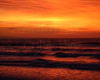 Beach Sunrise Photography Print, Instant Download Printable Art, Ogunquit Maine, Nautical Home Decor, Beach Sunrise Image Print