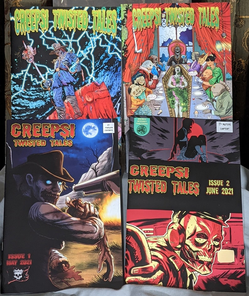 Creepsi Twisted Tales 4 Issue Bundle  Horror Comic Monthly image 1
