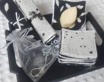 Zero waste gift box to offer to mistresses, atsem, nanny - ultra elegant black and white