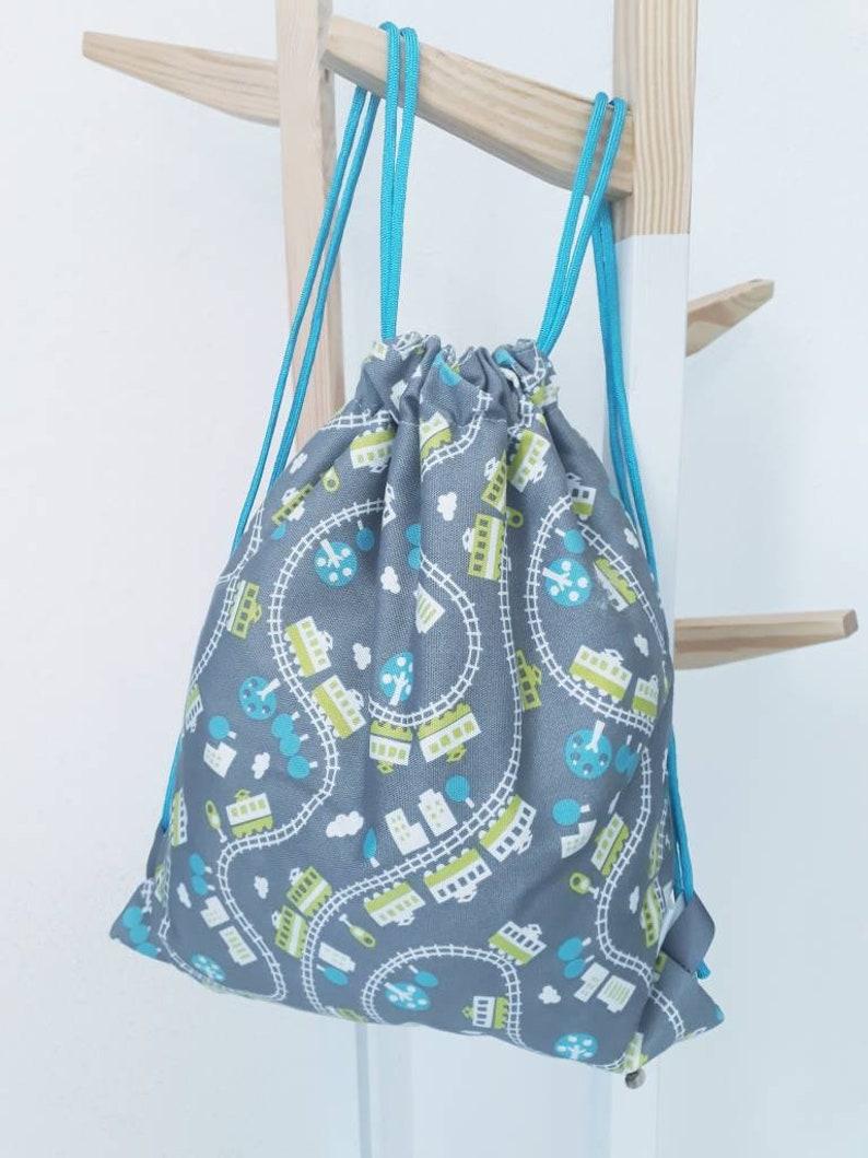 Backpack for kids gray train