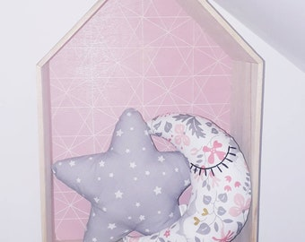 """Cuddly pink and gray Moon """"Pink Fawn"""""""
