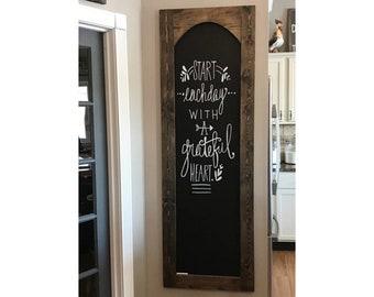 Large Chalkboard 6 Foot Tall, Handmade Chalkboard, Custom Chalkboard, Office  Decor