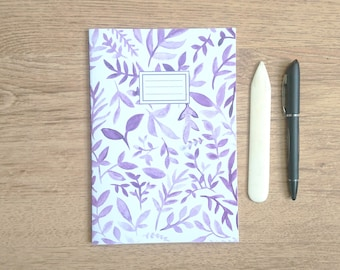 Purple Leaves || A5 Hand-stitched Notebook