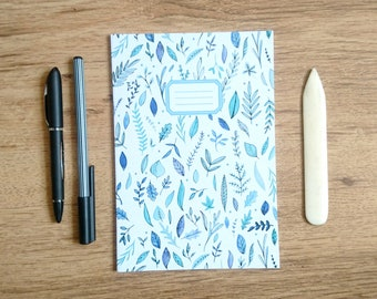 White Leaves || A5 Lined Notebook