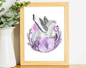 Pegasus || A3 and A4 Art Print || Digital Download || Printable || Bundle