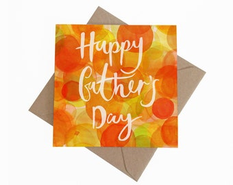Happy Fathers Day || Square Greetings Card