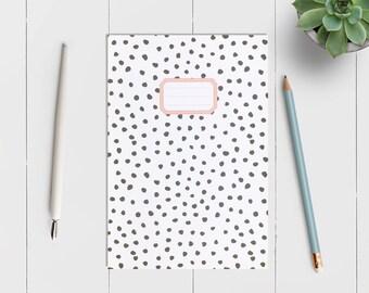 Polka Dot || A5 Lined Notebook || Journal || Jotter