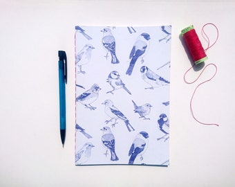 Garden Birds || A5 Hand-stitched Lined Notebook