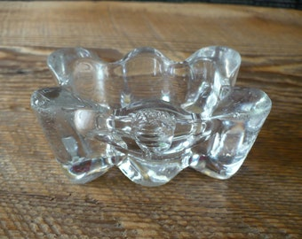 Vintage Clear Glass Salt Dip Vintage Entertaining TheEarlyBirdFinds Cut Glass Salt Cellar