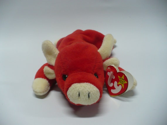88ff89040db Ty Snort Beanie Baby with Error 1995 Collectible Beanie Baby