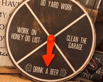 Drink a beer Chore Wheel