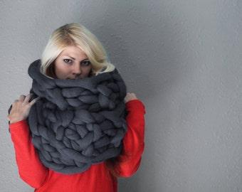 Chunky Scarf, Wool Scarf, Merino Wool Scarf, Knitted Scarf, Hand knit scarf, Knit scarf, Scarf, Chunky Knit Scarf, Wool Knitted Scarf, Scarf
