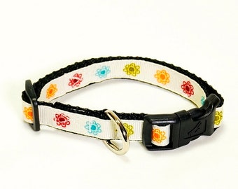 "Little Flowers Dog Collar (1/2"" width-Extra Small)"
