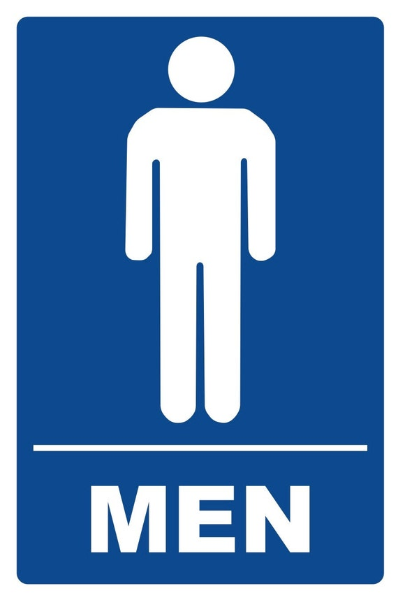 Mens Bathroom Property Security Sign 450 Etsy
