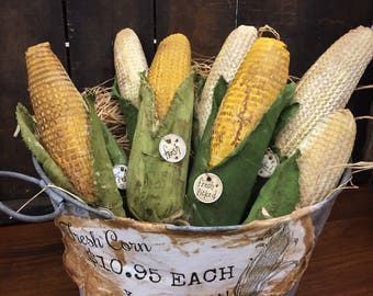 Handmade primitive Corn - primitive Corn - corn - fall decor - thankgiving decor - primitive decor