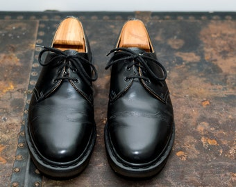 d9f83afd850ec Iconic 1461 Doc Martens Black Leather 3-Eyelet Shoe    Size UK 8.5 US 9.5     Made In England. Dr Martens Steed Black Noir Shoes 14348001