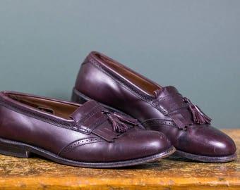 3f3ce7abf545 Allen Edmonds Kiltie Tassel Loafers in Burgundy    Size 10.5