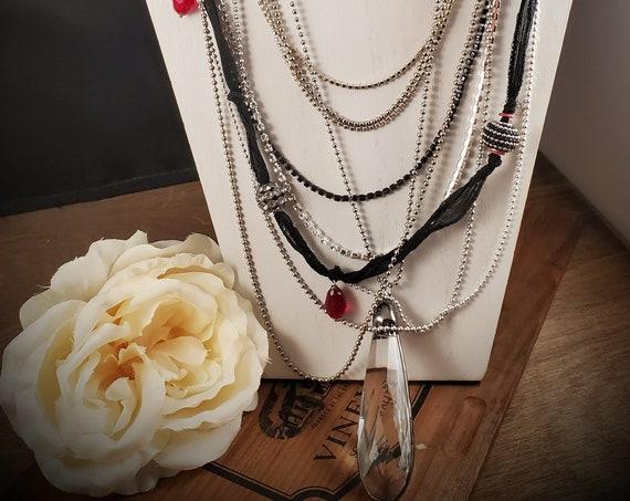 1930's Inspired Drape Necklace 10 strands