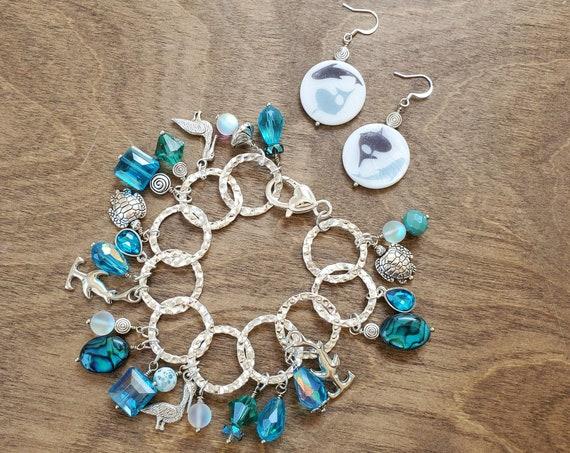 Shark Week Bracelet and Earring Set