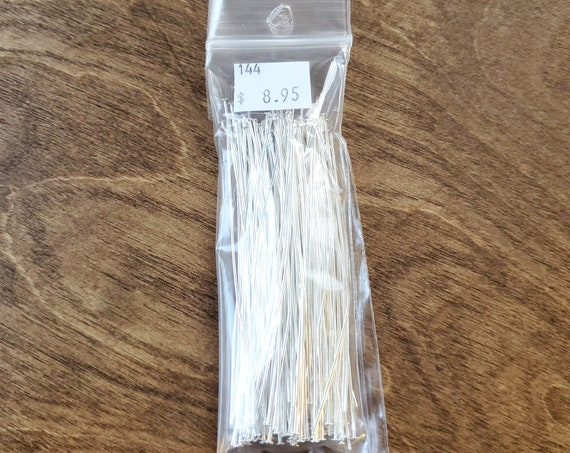 Bright Silver 3 inch Head Pins pack of 144