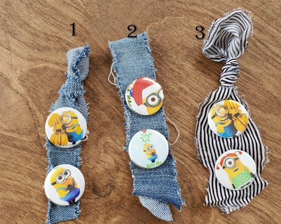 Minion 1 inch x 1 inch Button Pins Set of 2 - options