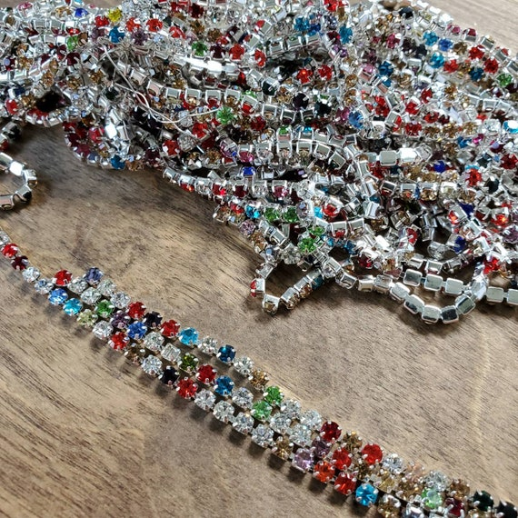 3mm Multi Colored Cup Chain sold by the foot