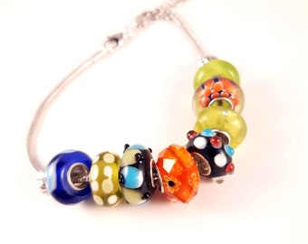 Size Large Carnival Lights Collection Interchangeable European Bracelet with Free Gift