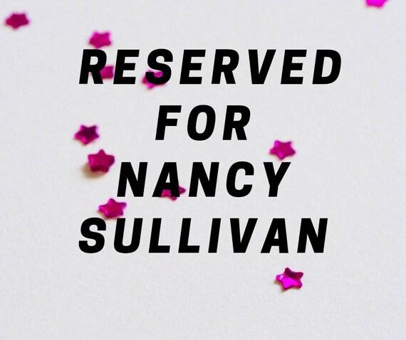 Reserved for Nancy Sullivan