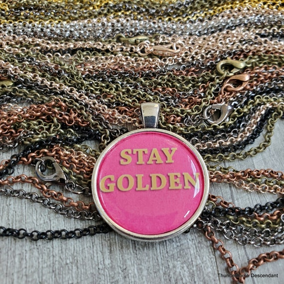 Stay Golden Girls Pendant with Optional Chain