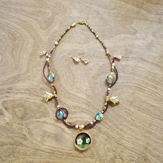 Floating Necklace and Earring Set