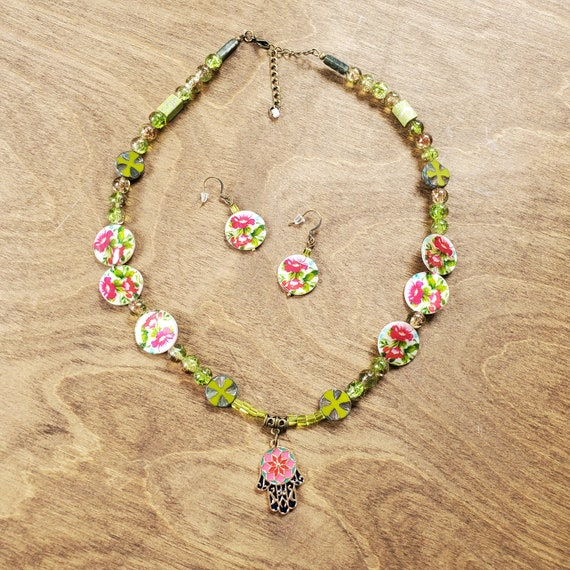 Tropical Paradise Necklace and Earring Set