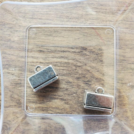 Glue in Leather Clasps for 10mm Flat Leather a package of 2