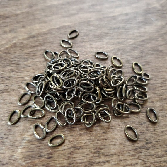 Small 6 mm Bronze Oval Jump Rings