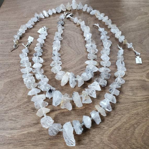 TAPERED Perkimer Diamonds originally from Pakistan/ Taylors Falls Bead Store