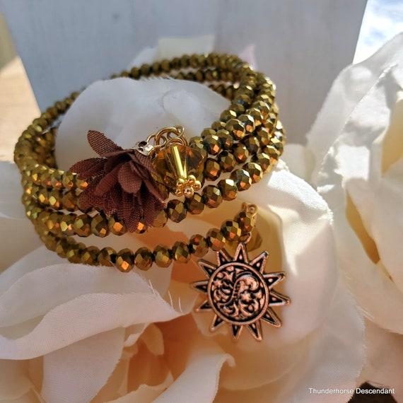 Sunshine Memory Wire Wrap Bracelet