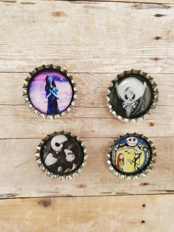 Nightmare Before Christmas Love Story Super Magnets Set of 4