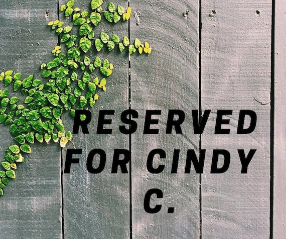 Reserved for Cindy Crawford