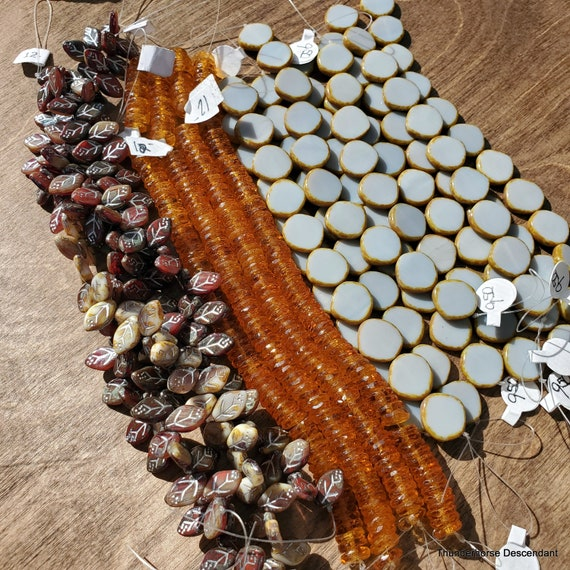 Czech Glass and Vintage German Bead Strand Options
