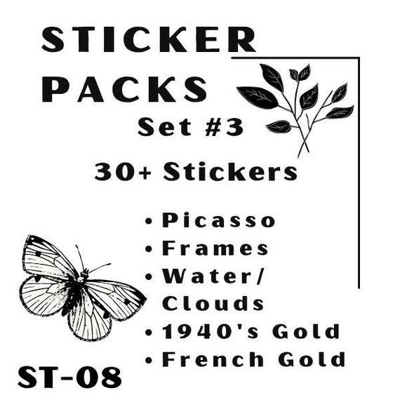 Sample Sticker Packs #3 for Scrapbook and Junk Journal