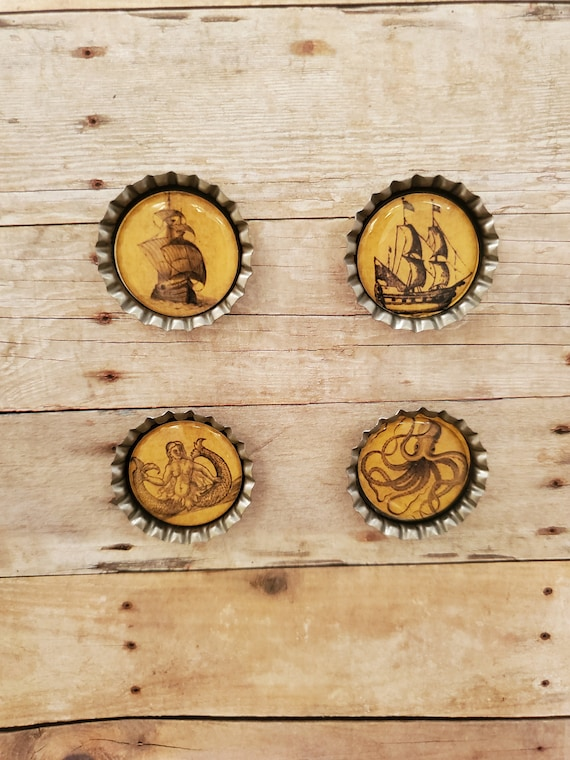 Sea Monsters Magnets Set of 4