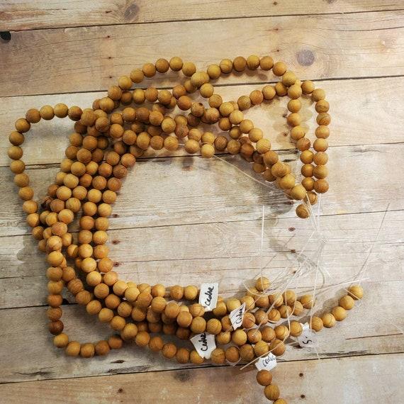Genuine Cedar Wood Beads 8mm