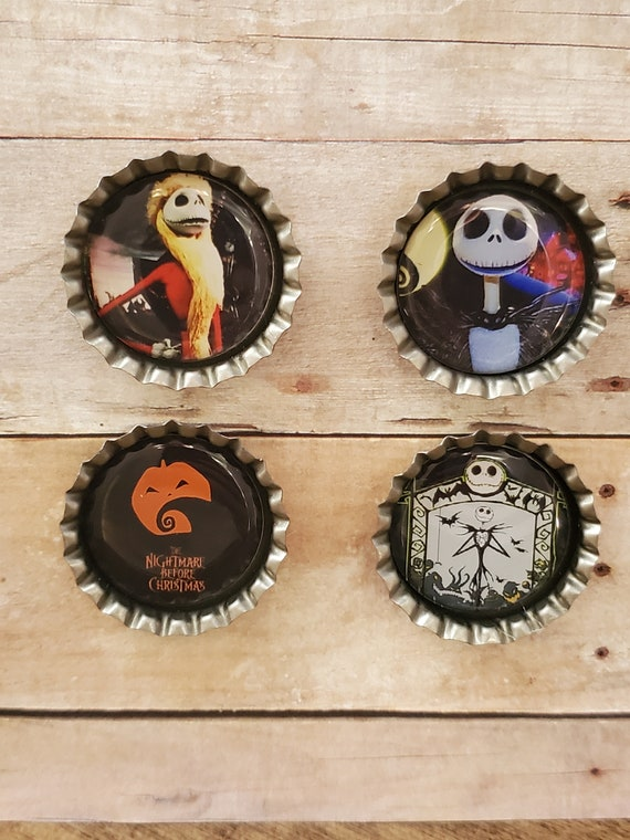 Nightmare Before Christmas Super Magnets Set of 4