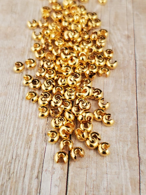 3 mm Gold Bead Covers From Taylors Falls Bead Store