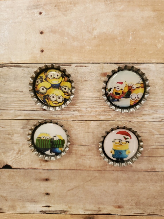 CHRISTMAS Minions Super Magnets Set of 4