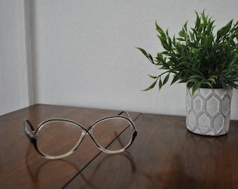 d802d538b949 Vintage Tura 638 EBO M2 Prescription Eyeglasses 70s Mod Black   Clear Canada