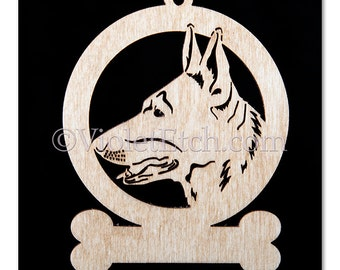 German Shepherd Ornament-German Shepherd Gift-Free Personalization